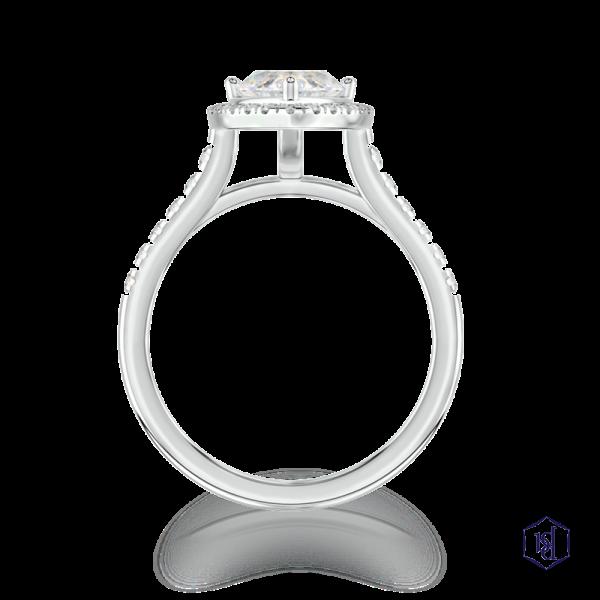 marquise cut platinum cluster diamond band