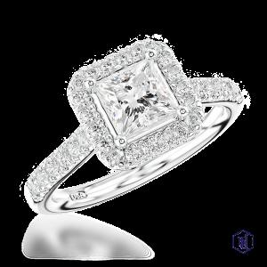 princess cut platinum cluster diamond band